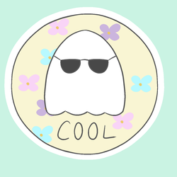 cool ghost sticker by popfiish