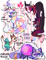 CIRCUS CATS AUCTION [OPEN] by sci-fei