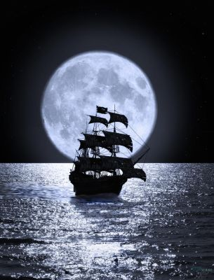 Super Moon Sailing by rmh7069