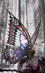 The Gothic Butterfly by dahoffmann