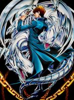 Seto Kaiba Poster - Blue-eyes White Dragon by Carlos123321