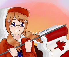 [Nyotalia] Canadain Pride by CrayCrayVanessy