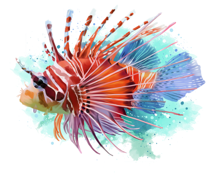 Lionfish by Kajenna