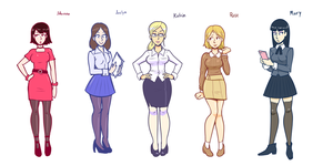 The Office Girls by gigaderpbreak