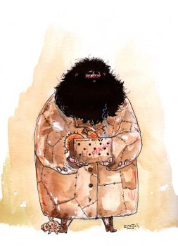 Hagrid watercolors fan art by radja01