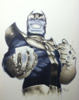 Thanos Con Sketch by RichardCox