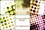 Color halftone brushes by Esther13