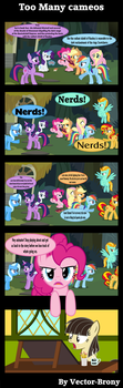 Too many cameos by Vector-Brony