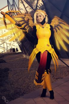 Amber Mercy cosplay by bekiie