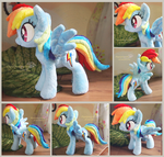 New Rainbow dash - Handmade plush - FOR SALE by Piquipauparro