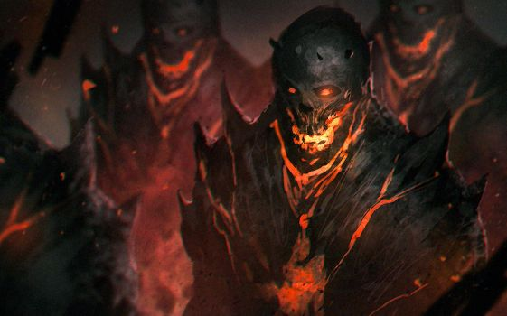 Inside the volcano : Daily Spitpaint by NeoArtCorE