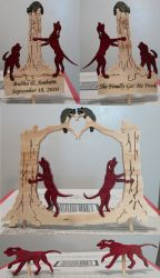 Redbone Wedding Cake Toppers by Magnum-Arts