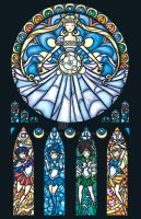 Sailor Moon Stained Glass by nenuiel