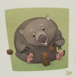 Wombat by WonderDookie