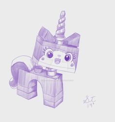 UniKitty Blue tone Painting