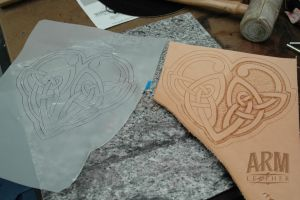 Leather Tooling 1 by Blackthornleather