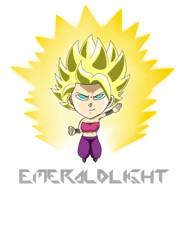 caulifla ssj2 aura by EmeraldLighting