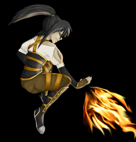 Emorza The Fire Bender by Wolf-of-DirtyPaws