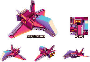 lowpoly spaceship by KennethFejer