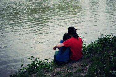 Love on the shore of the river by CapricornElegy