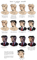 how i color stuff by Liimesquares