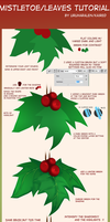 Holly berry/Kissing plant/Leaves tutorial by Caeruu