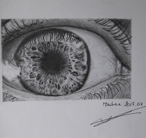 Eye Drawing by Miasaya