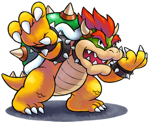 ''Mario+Luigi'' RPG Style: Bowser [SSB4 Pose] by MAST3R-RAINB0W