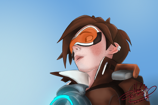 Daily Art #002 - Tracer - Overwatch by Nomater17
