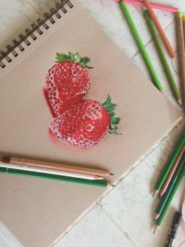 Strawberries by Mila076