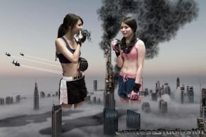 Victoria And Miranda Giantess Feeder by GiantessStudios101