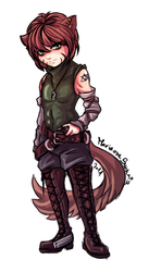 Wolf boy Phase commission by MarianneSwartz