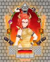the sexy and evil koopa queen by riukykappa