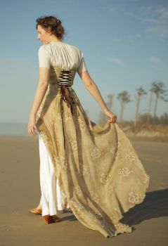 Sandy Flora Gown at the Cape by TEMPERATE-SAGE