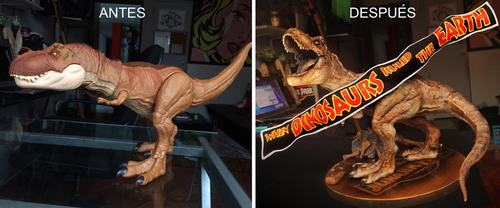 Jurassic Park, T Rex custom and repaint by frankreyes