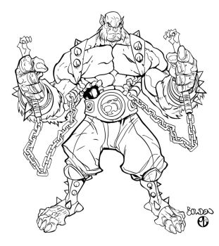 Panthro Full Character Inks by Staminaboy