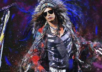 Steven Tyler  - Aerosmith - Painting by kitster29
