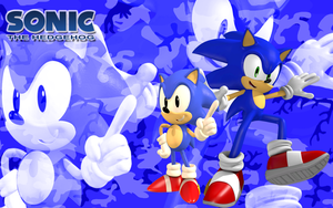 Classic and Modern Sonic Camo Wallpaper by Supremechaos918
