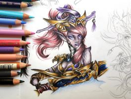 Lunar Wraith Caitlyn - League of Legends fanart by MsLydix