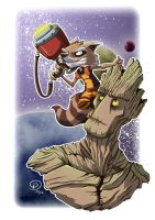 Rocket and Groot by FelipeDS