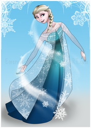 Elsa, Queen of the Snow by Emerald-Procyon