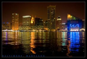 Baltimore at Night by ahedrick201
