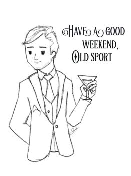 Thank Gatsby It's Friday by SabineDraws