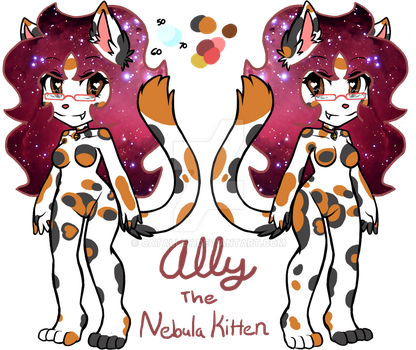 Ally The Nebula Kitten Reference Sheet by CatAlley