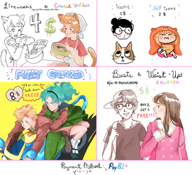 NEW COMMISSION PRICELIST by panchimorko