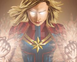 Captain Marvel by Junior-Rodrigues