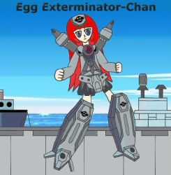 Mecha-Musume: Egg Exterminator-Chan by Hexidextrous