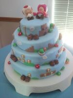 Super Mario Bros Cake by dawniebum