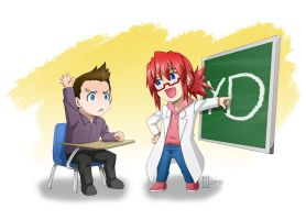color. i can't believe my teacher is this nerdy by maioceaneyes