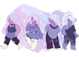 amethyst - alternate character designs by fishervk
